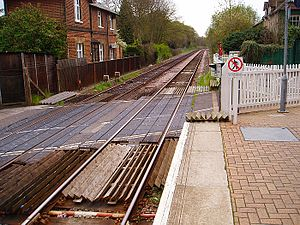 Farnborough North railway station - Image: Farnborough north railtracks