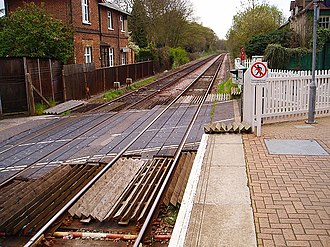 Farnborough North railway station - Image: Farnborough north railtracks