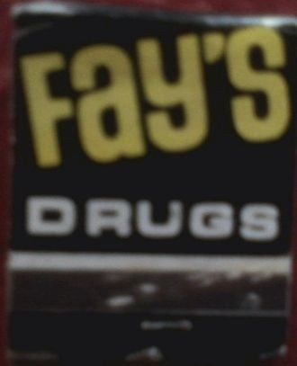 Fay's Drug - A Fay's brand matchbook from the 1970s