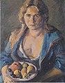 Felix Esterl - Frau des Künstlers mit Fruchtteller - 1925.jpeg