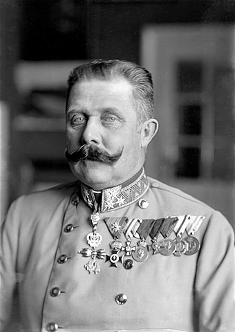 Archduke Franz Ferdinand, whose assassination sparked World War I, one of the most disastrous conflicts in human history Ferdinand Schmutzer - Franz Ferdinand von Osterreich-Este, um 1914.jpg