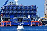 Ferguson ASV Pioneer (Offshore Accommodation Barge) - Isola del Giglio - Tuscan Archipelago, Italy - 18 Aug. 2013.jpg
