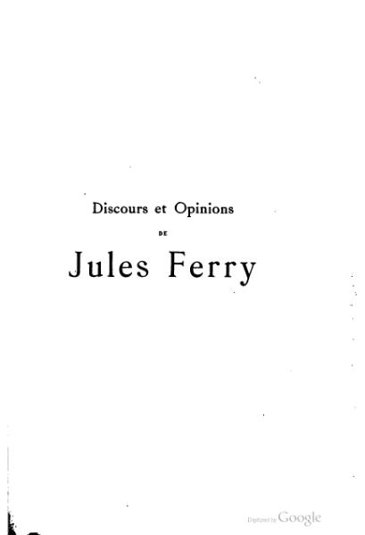 File:Ferry - Discours et opinions, tome 1.djvu