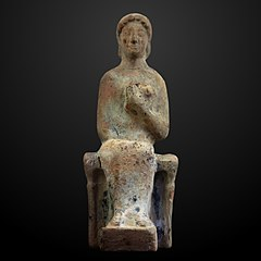 Figurine of seated woman-AM 209