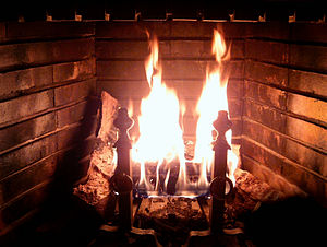 300px Fireplace Burning Berkshire Real Estate:  Fireplaces & Green Building