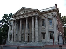 Picture of a building with columns.