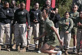 First Sergeant Dawn Adams, Company First Sergeant, Headquarters and Service Company, Marine Corps Combat Service Support Schools (MCCSSS), runs in the Running of the Ranks event during MCCSSS Field Meet aboard 131025-M-GJ479-007.jpg