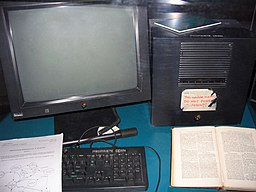 Photograph of first server for World Wide Webran.