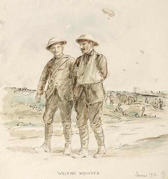 File:First World War Sketchbook Volume 1 - Walking Wounded, Somme 1916 Art.IWMART16707A29.jpg