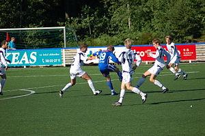 Ålgård FK - Ålgård in white shirts away against Fløy in June 2007.  Photo: Rune Sattler