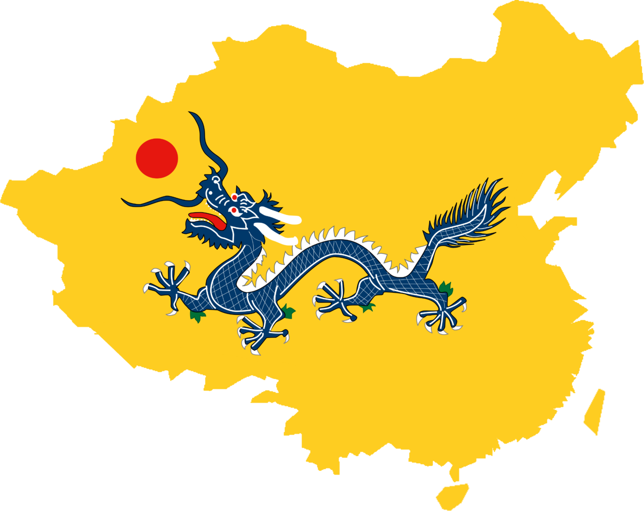 File:Flag map of Qing Dynasty (1644 - 1912).png
