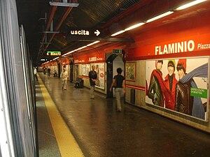 Flaminio – Piazza del Popolo (Rome Metro) - Image: Flaminio Metropolitana di Roma
