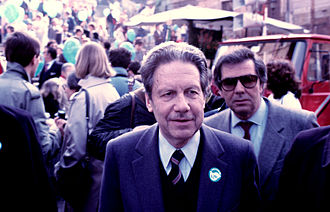 Flaminio Piccoli - Flaminio Piccoli at the March for the Peace in Rome, 1985