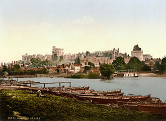 Windsor, Berkshire - Photochrom of Windsor and Windsor Castle looking across the Thames, 1895