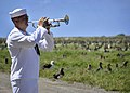 """Flickr - Official U.S. Navy Imagery - A Sailor plays """"Taps"""" during a ceremony commemorating the 70th anniversary of the Battle of Midway..jpg"""