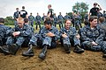 Flickr - Official U.S. Navy Imagery - First-year midshipmen, or plebes, wait to participate in the ground combat exercise of the U.S. Naval Academy's annual Sea Trials..jpg