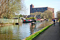 Flickr - ronsaunders47 - BARGES ON THE CANAL.PEDAL POWER Vs DIESEL..jpg