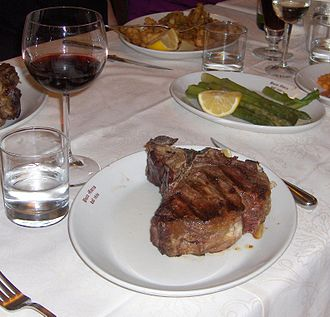 T-bone steak - Florentine steak in Florence, Italy