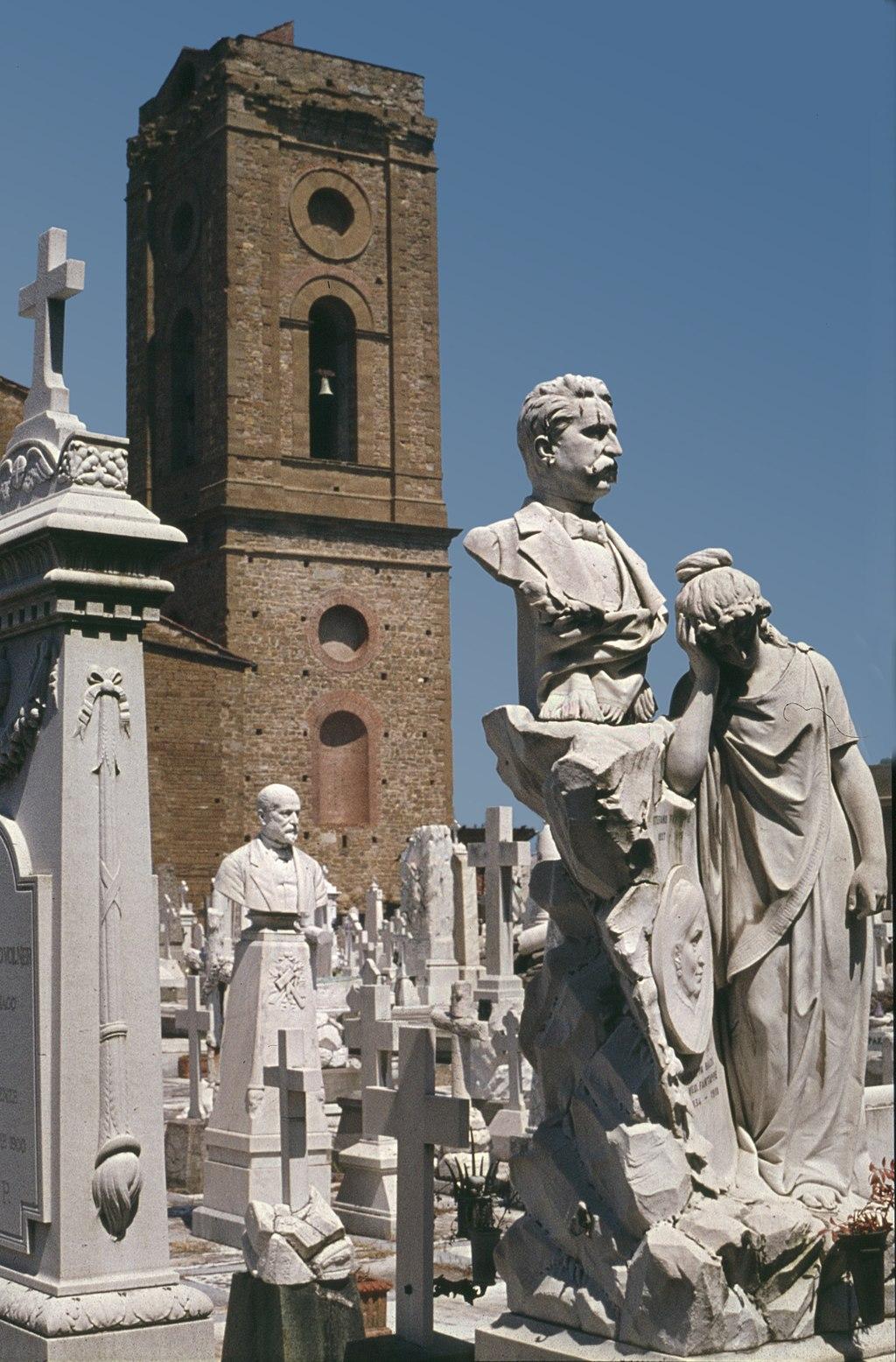 Florenz-42-Friedhof von San Miniato al Monte-Grabmal-1977-gje