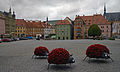 Flowers on the main square of Cheb, Czech Republic.JPG