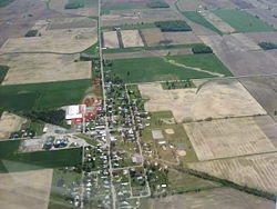 Aerial view of Wharton