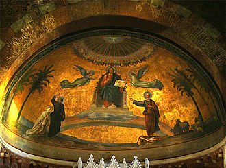 "San Pietro in Ciel d'Oro - The ""Golden Sky"" in the apse"