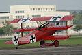 Fokker Dr.I Manfred Richthofen Landing 11 Dawn Patrol NMUSAF 26Sept09 (14576896886).jpg