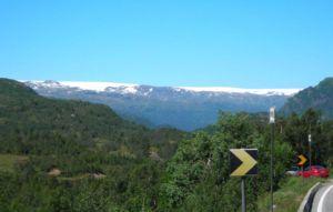 Folgefonna - Folgefonna seen from the road E134