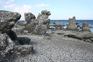 Ardre, Gotland - Sea stacks at Folhammar in Ardre