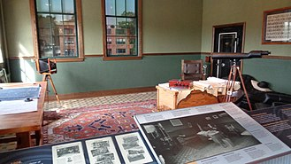 Ford Piquette Avenue Plant - The restored office of Henry Ford in the Piquette Avenue Plant. Note the birdwatching telescope on the right.