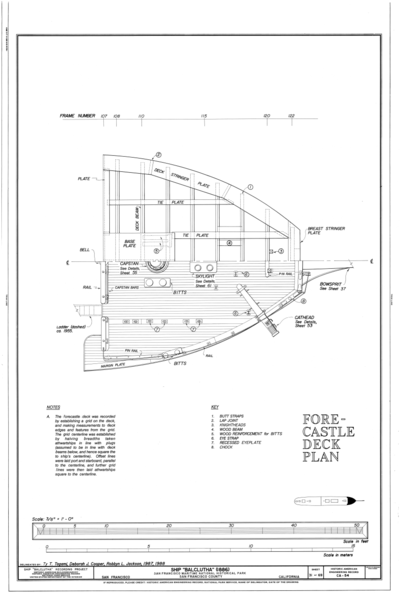 Fileforecastle Deck Plan