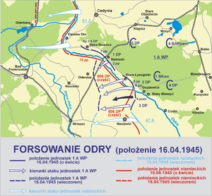 Polish 1st Tadeusz Kościuszko Infantry Division - Image: Forsowanie odry 1 1945