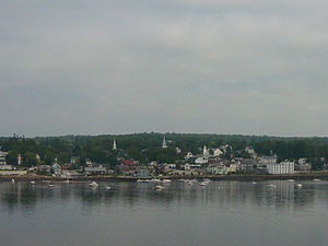 Bucksport, Maine - Bucksport from Fort Knox, 2004