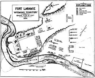 Emigrant Trail in Wyoming - Plan of Fort Laramie