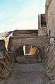 Fossat de l'antiga alcassaba, castell de santa Bàrbara, Alacant.JPG