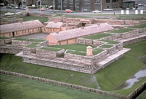 Fort Stanwix - View of the reconstructed Fort Stanwix