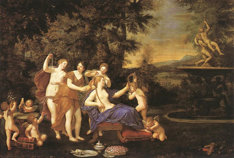 [JEU] ABC des artistes 800px-Francesco_Albani_-_Venus_Attended_by_Nymphs_and_Cupids_-_WGA0111