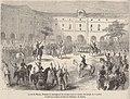 Francesco II arringa le truppe nella caserma del Grenil il 15 luglio - - LMI 28-7-1860.JPG