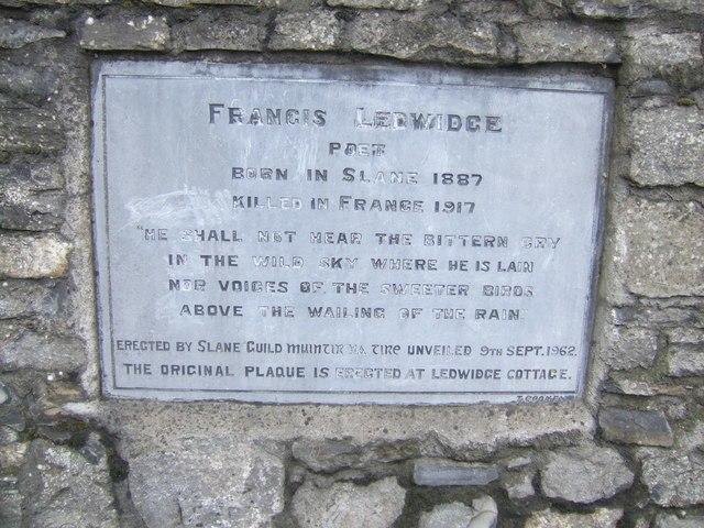 Francis Ledwidge memorial - geograph.org.uk - 455605