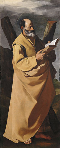 San Andrés 1630-1632, (146 x 60 cm.), Magyar Szépmüvészeti Múzeum Budapest