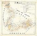 Fronteira entre Galiza e Portugal na folha n.º 2, parte 1.ª, da série de mapas de José de Castro López sobre A Raia (1863).jpg