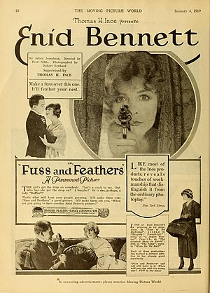 Enid Bennett - Fuss and Feathers (1918)