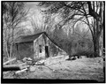 GENERAL VIEW OF GRISTMILL FROM NORTHWEST. - Plante Grist Mill, U.S. Route 44, Chepachet, Providence County, RI HAER RI,4-CHEP,2A-2.tif