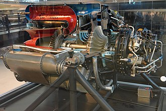 General Electric J31 - Cutaway version of the J31 engine at the National Air and Space Museum