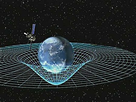 mass curving spacetime