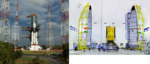 GSLV Mk III D2 on Second Launch Pad of SDSC SHAR and GSAT-29 before encapsulation.png