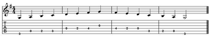G major scale one octave (open position).png