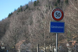 Gänsbrunnen - Border of the municipality