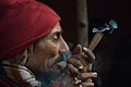 Ganja Smoking - Gangasagar Fair Transit Camp - Kolkata 2013-01-12 2646.JPG