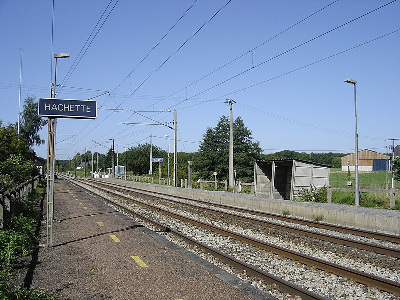 The railway station of Hachette.